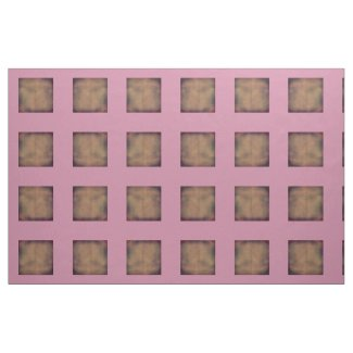 Pink and Brown Tile Fabric
