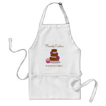 Pink and Brown Treats Bakery Business Apron