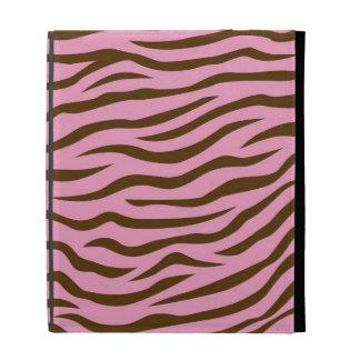 Pink and Brown Zebra Stripes Animal Print iPad Cases