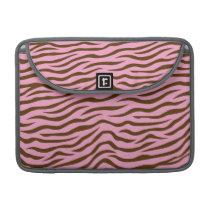 Pink and Brown Zebra Stripes Animal Print Sleeve For MacBooks