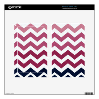 Pink And Burgundy Chevron Stripes Kindle Fire Skins