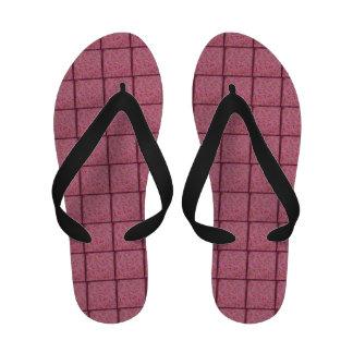 Pink and Burgundy Floral Flip Flops