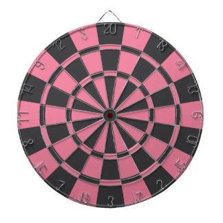 Pink And Charcoal Gray Dart Boards