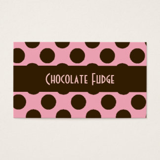 Pink and Chocolate Brown Business Card