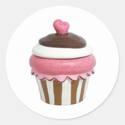 Pink and chocolate cupcake sticker sheet
