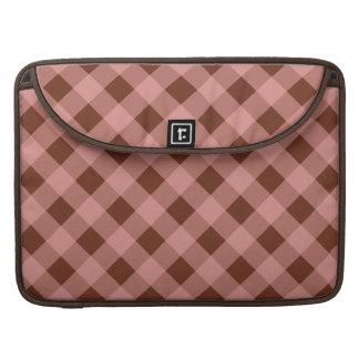 Pink and Chocolate Gingham MacBook Sleeve