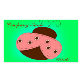 Pink and Chocolate Ladybug Double-Sided Standard Business Cards (Pack Of 100)
