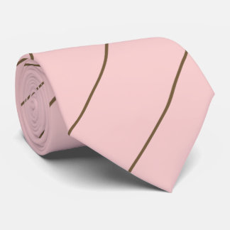 Pink and Chocolate Neck Tie