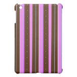 Pink and Chocolate Stripe iPad Mini Cover