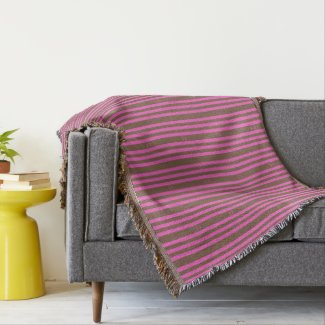 Pink and Chocolate Throw Blanket