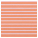 [ Thumbnail: Pink and Coral Colored Lined/Striped Pattern Fabric ]