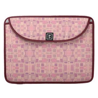 Pink and Cream Geometric Jumble Sleeve For MacBook Pro