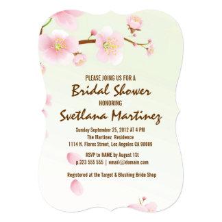 Pink And Cream Magnolia Blossom Bridal Show Invite