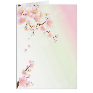 Pink And Cream Magnolia Blossom Bridal Show Invite Greeting Card