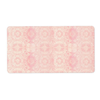 Pink and Cream Muted Vintage Lace Inspired Theme Label