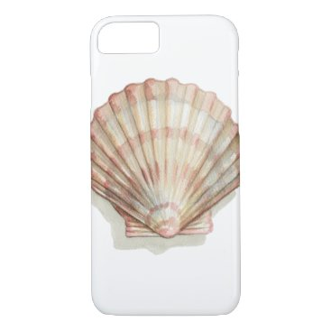 Beach Themed Pink and Cream Seashell iPhone 7 Case