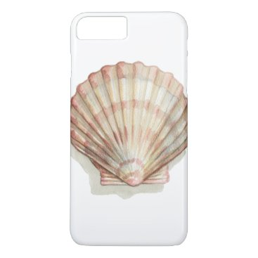 Beach Themed Pink and Cream Seashell iPhone 7 Plus Case