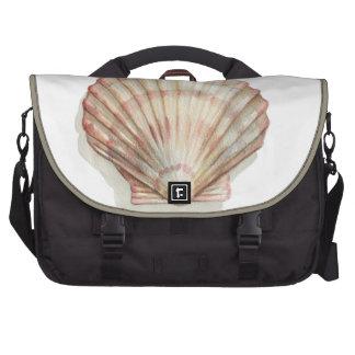 Pink and Cream Seashell Laptop Computer Bag