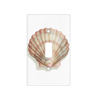 Pink and Cream Seashell Light Switch Cover