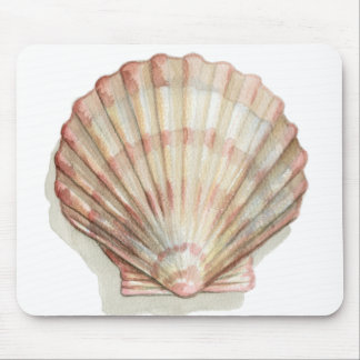 Pink and Cream Seashell Mouse Pad