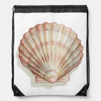 Pink and Cream Seashell Backpacks