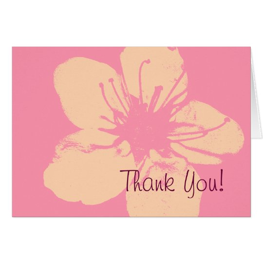 Pink and Cream Thank  You Card