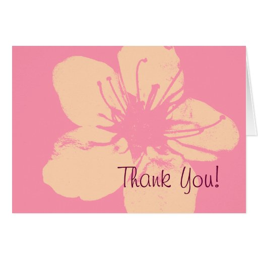 Pink and Cream Thank  You Cards