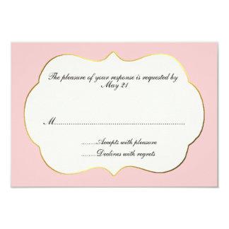 Pink and Cream Wedding Response Card