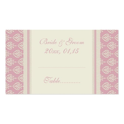 and cream wedding table place setting cards business card templates. Black Bedroom Furniture Sets. Home Design Ideas