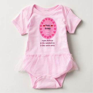 Pink and cute birthday shirt for kids