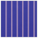 [ Thumbnail: Pink and Dark Blue Colored Lined/Striped Pattern Fabric ]