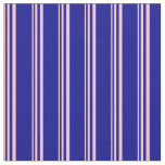 [ Thumbnail: Pink and Dark Blue Lines Fabric ]