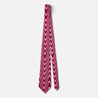 Pink and Dark Red Chevron Style Design Tie
