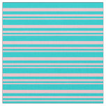 [ Thumbnail: Pink and Dark Turquoise Colored Lines Fabric ]