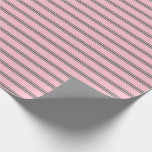 [ Thumbnail: Pink and Dim Gray Lines Pattern Wrapping Paper ]