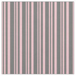 [ Thumbnail: Pink and Dim Gray Lines/Stripes Pattern Fabric ]