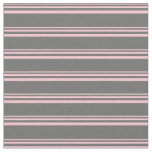 [ Thumbnail: Pink and Dim Grey Stripes Fabric ]