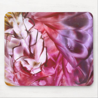 Pink and Flower Mouse Pad