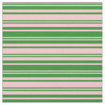 [ Thumbnail: Pink and Forest Green Colored Pattern Fabric ]