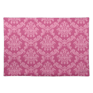Pink and Fuscia Damask Placemat