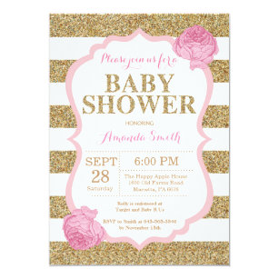 Baby Girl Shower Invitations Zazzle