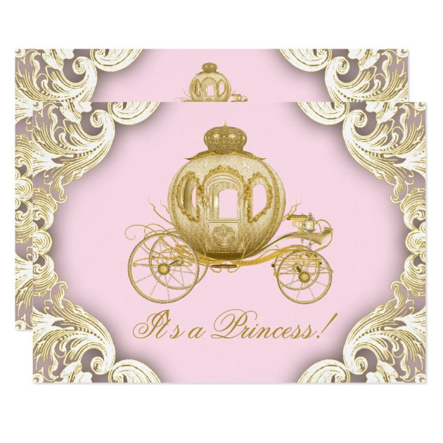 princess baby shower invitations & announcements | zazzle, Baby shower invitations