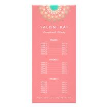 Pink and Gold Circle Motif Price List Menu