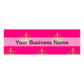 Pink and gold crown pattern Double-Sided mini business cards (Pack of 20)