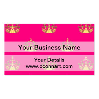 Pink and gold crown pattern Double-Sided standard business cards (Pack of 100)