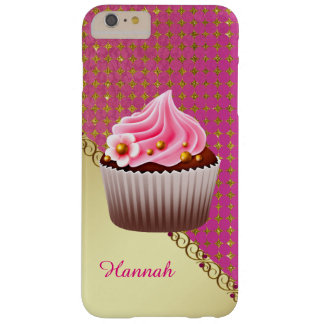 Pink and Gold Cupcake iPhone 6 Plus Case