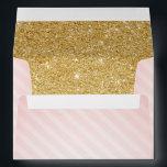 "Pink and Gold Envelopes, Twinkle Little Star Envelope<br><div class=""desc"">Twinkle Twinkle Little Star Pink and Gold Baby Shower Invitation Envelopes</div>"