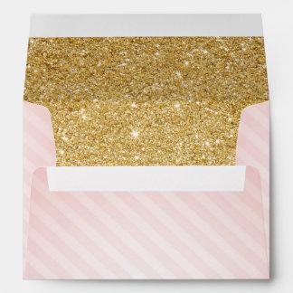 Pink and Gold Envelopes, Twinkle Little Star Envelope