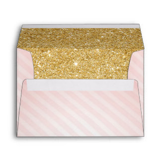 Pink and Gold Envelopes, Twinkle Little Star Envelope