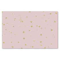 Pink and Gold Faux Glitter Confetti Dots Tissue Paper